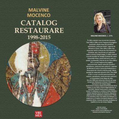 Malvine Mocenco. Catalog Restaurare 1998 - 2015
